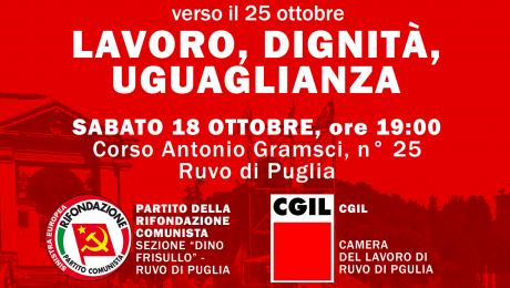 Lavoro, dignità, uguaglianza – costruiamo il 25 ottobre