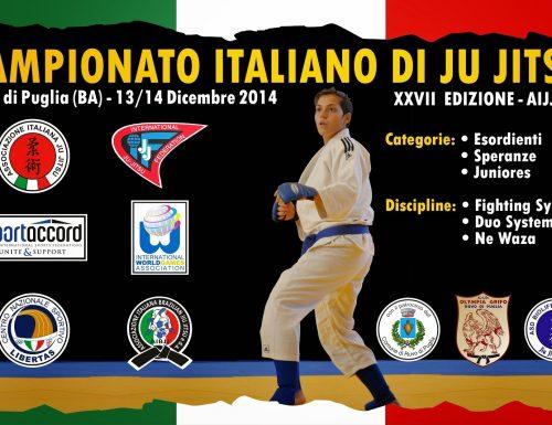 A Ruvo il Campionato Italiano di Ju Jitsu